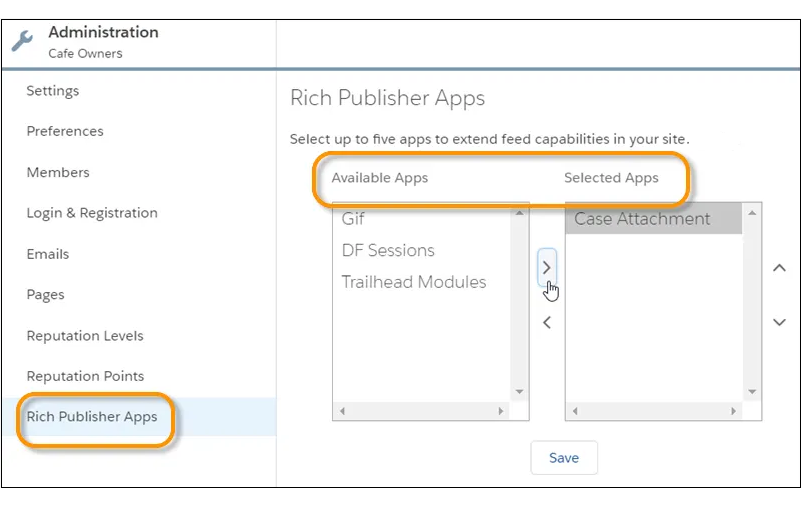 Rich Publisher Apps in the Administration Workspace]