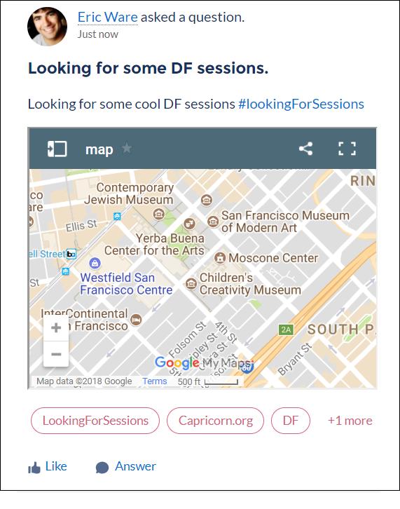 フィード項目上の地図リッチパブリッシャーアプリケーション