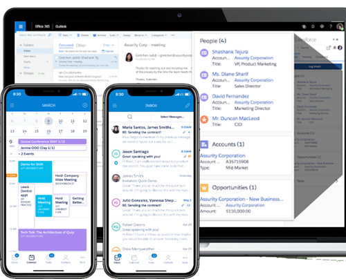 Salesforce Inbox is available on desktop and mobile devices