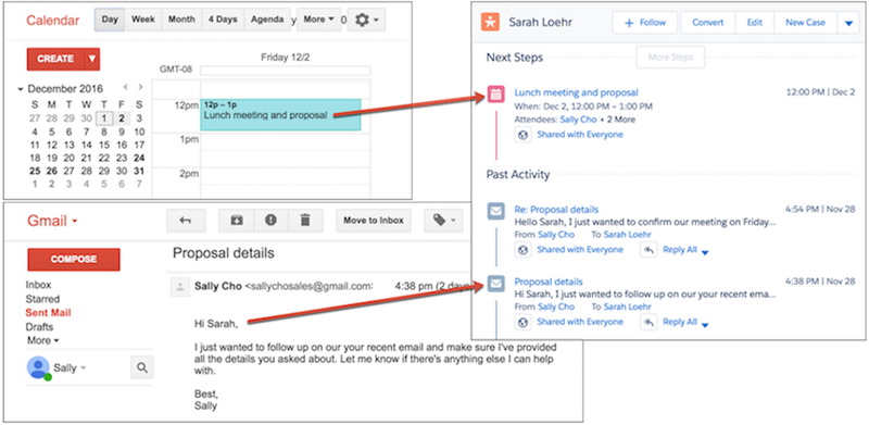 Einstein Activity Capture relates email and events to Salesforce records