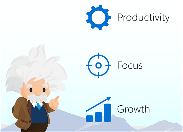 Three benefits of Sales Cloud Einstein: productivity, focus, and growth