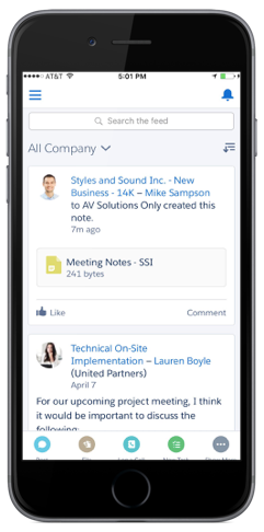 Chatter helps you collaborate from anywhere.
