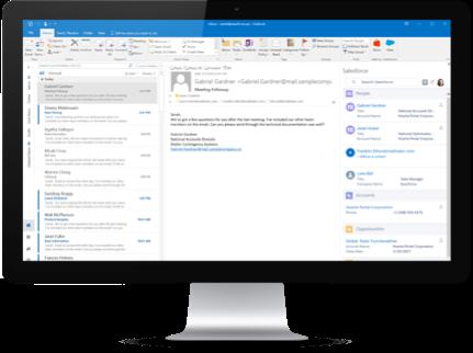 Verbinden des E-Mail-Systems mit Salesforce