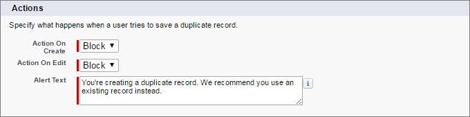 Block duplicates on create and edit