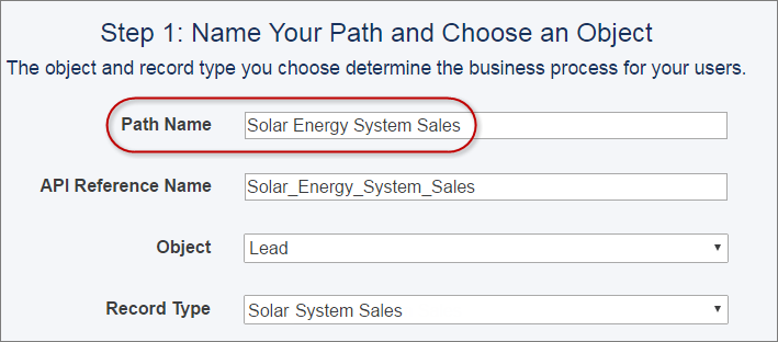 Name Your Sales Path