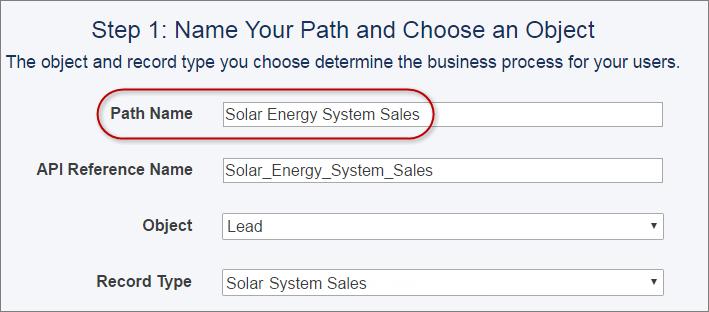 Asignar un nombre a la ruta de ventas