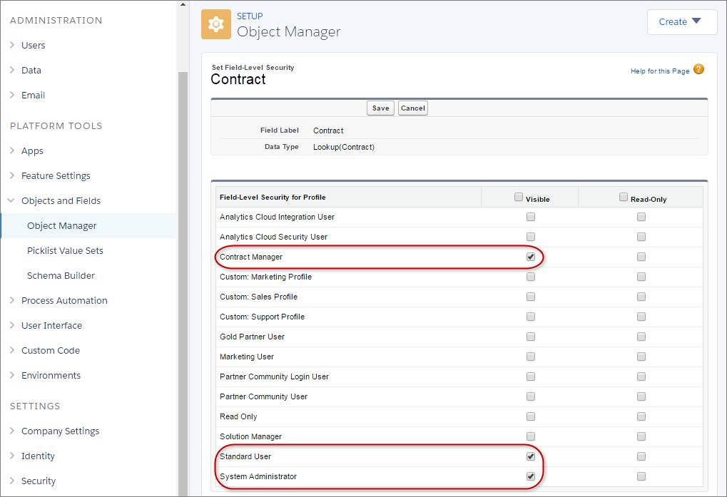 Set Feild-Level Security to add Contracts to Opportunity Details