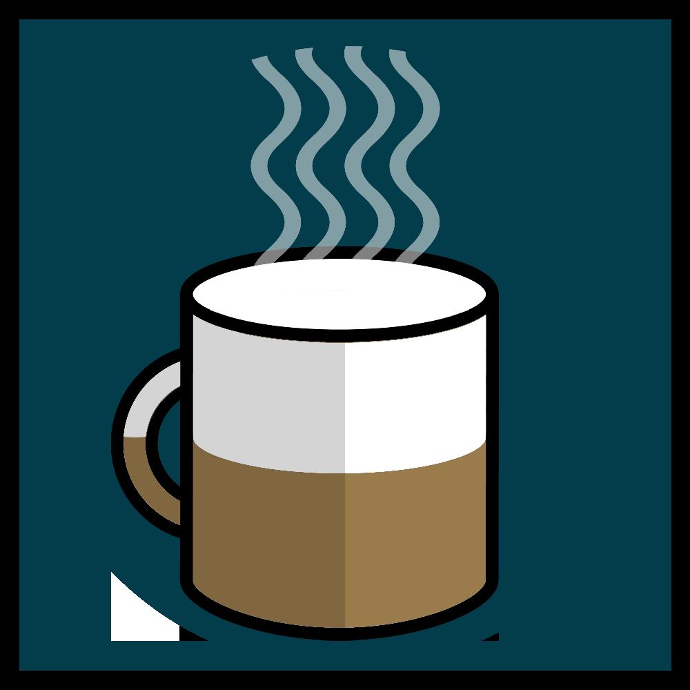 Tasse de café à moitié pleine