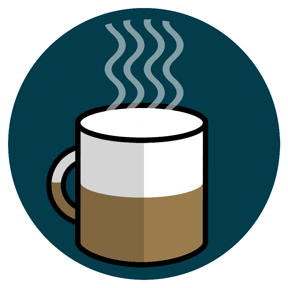 カップ半分のコーヒー