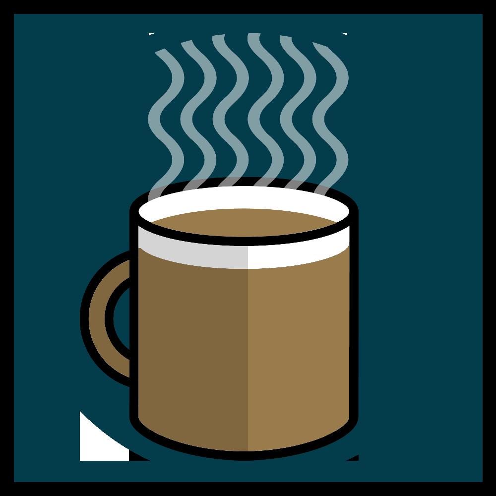 Uma xícara cheia de café.