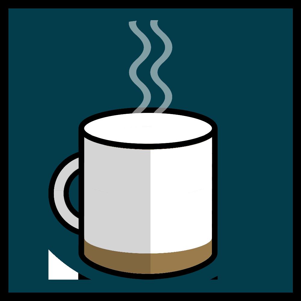 Xícara de café quase vazia