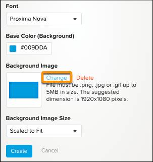Customize Theme with Background Image Change Link Circled