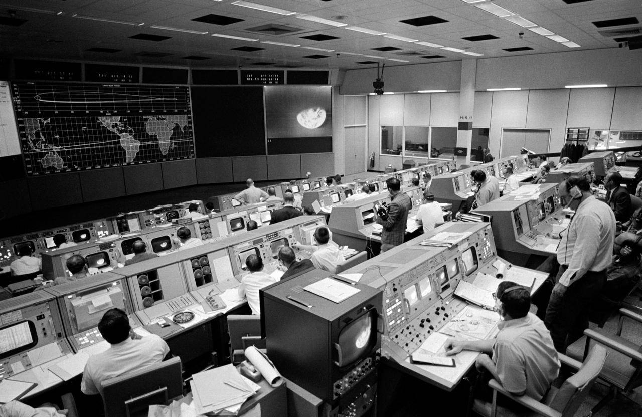 Photograph of NASA's Mission Control