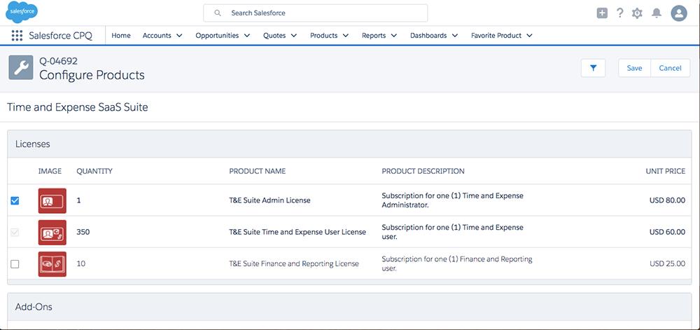 Der Konfigurator bündelt bei Bedarf automatisch Produkte und verhindert die Auswahl inkompatibler Produkte.