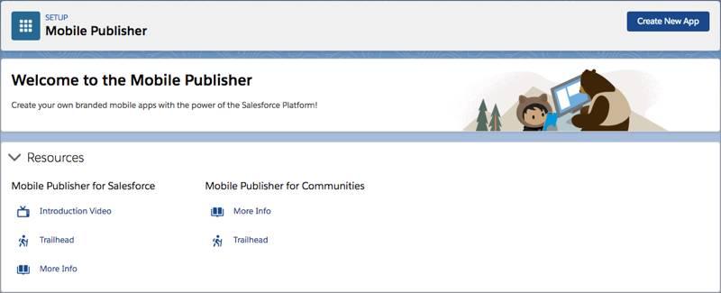 A página de destino do mySalesforce na configuração do Salesforce