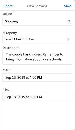 Screenshot der neuen Besichtigung