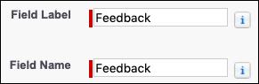 Capture d'écran des détails du champ Commentaires