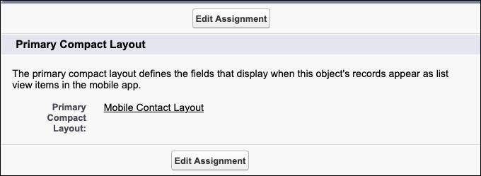 Capture d'écran de la nouvelle présentation compacte sélectionnée en tant que présentation principale