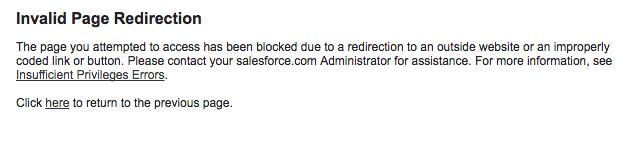 Redirect Fail