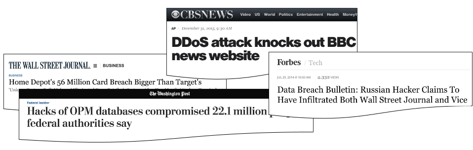 ニュースに見られる最新のセキュリティ侵害