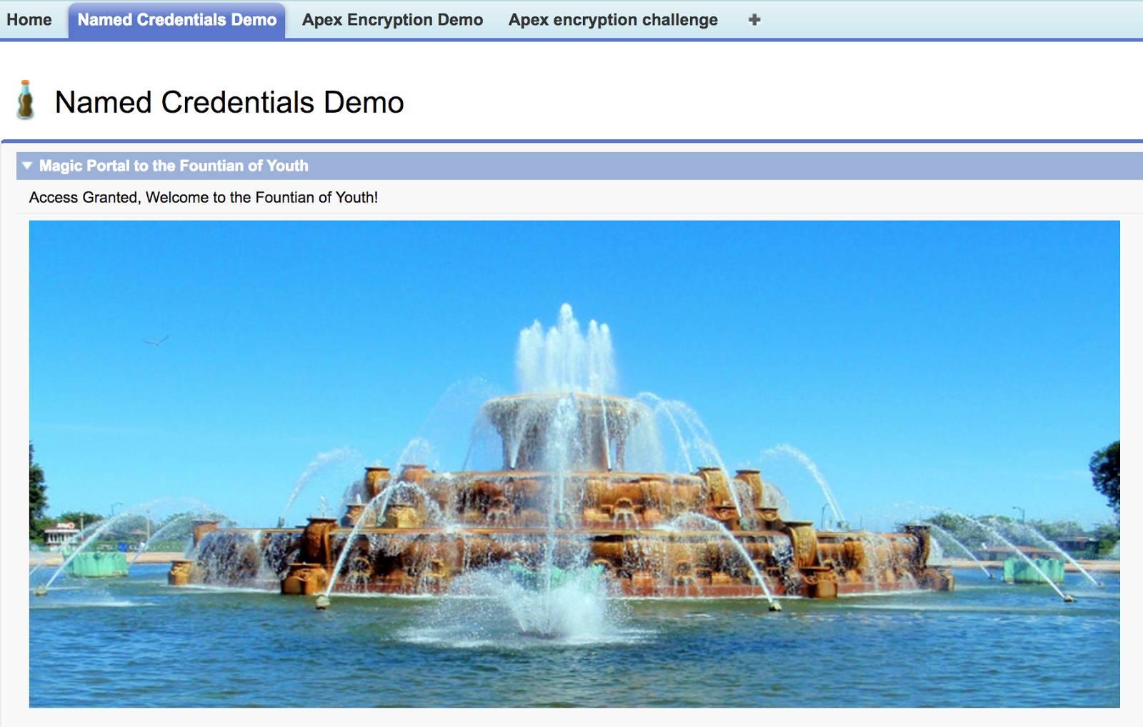 ポータルが泉につながることを示すスクリーンショット