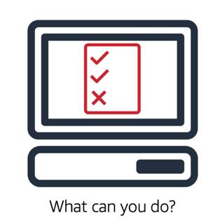 Computer that shows what actions can and can't be performed, as an example of authorization