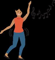 Pessoa dançando