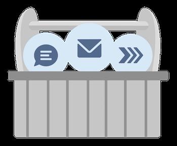 Eine Zusammenstellung von Symbolen für Produktivitätstools