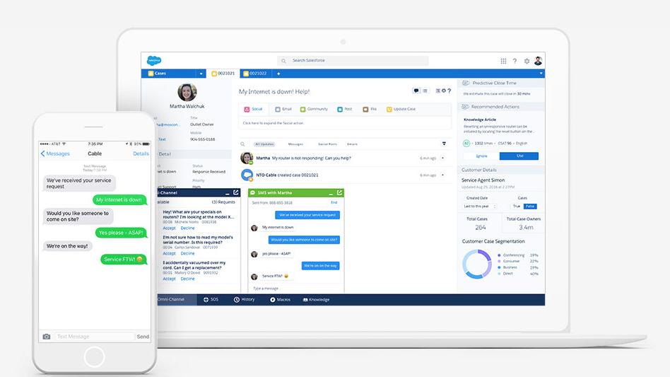 Captura de pantalla de LiveMessage en acción.