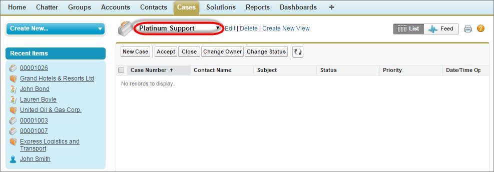 Screenshot einer Warteschlange für Kundenvorgänge, angezeigt aus einer Listenansicht