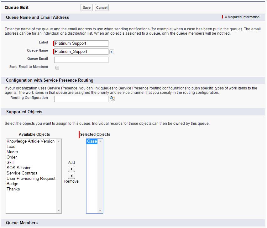 Screenshot der Seite 'Warteschlange für Kundenvorgang'