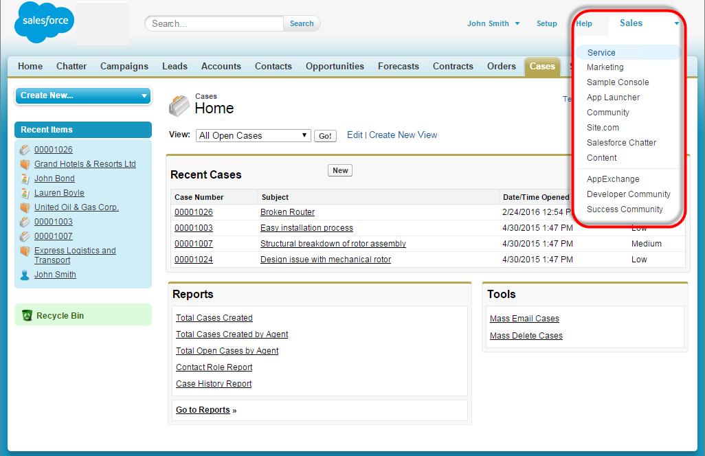 Screenshot einer Konsole mit dem Anwendungsmenü in der Kopfzeile