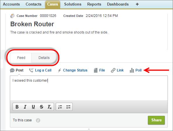 Capture d'écran d'une requête avec ses éditeurs et le fil.