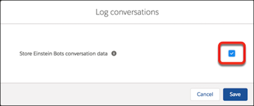 Log conversations dialog in settings