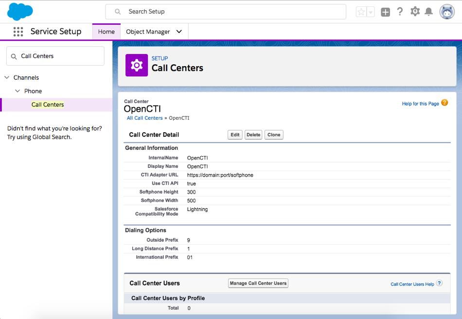 Captura de tela do centro de atendimento em Configuração mostrando as informações detalhadas.