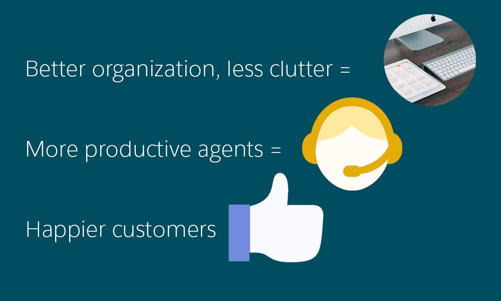 Organization = productive agents + happy customers