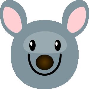 Um gráfico de um rato animado