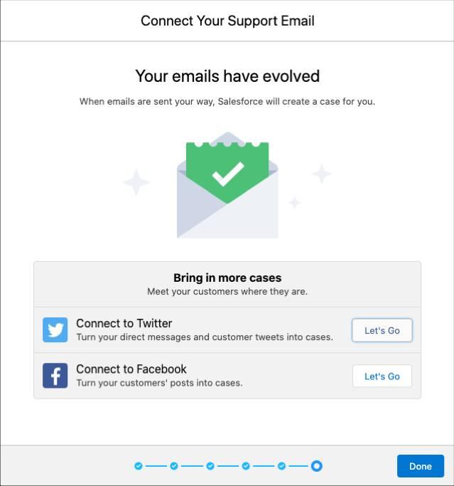 成功プロンプトが表示された最後のメール設定プロンプト。