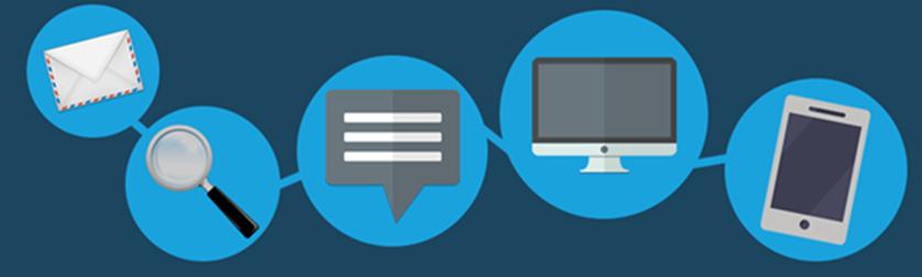 Diagramme de différents canaux de service pour les clients.