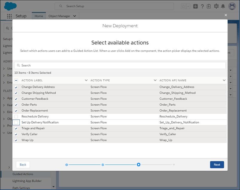 Select which flows agents can add at runtime.