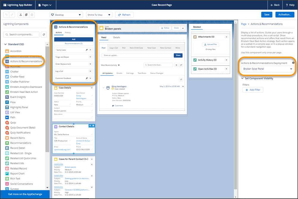 Configure the component on a record page.