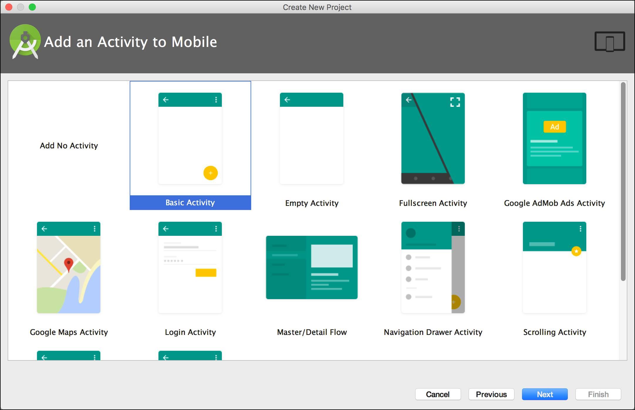 Basic Activity (基本アクティビティ) プロジェクト