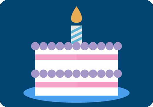 誕生日ケーキのグラフィック