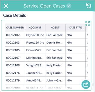 オープンケースの詳細を示すモバイルアプリケーションの画像。