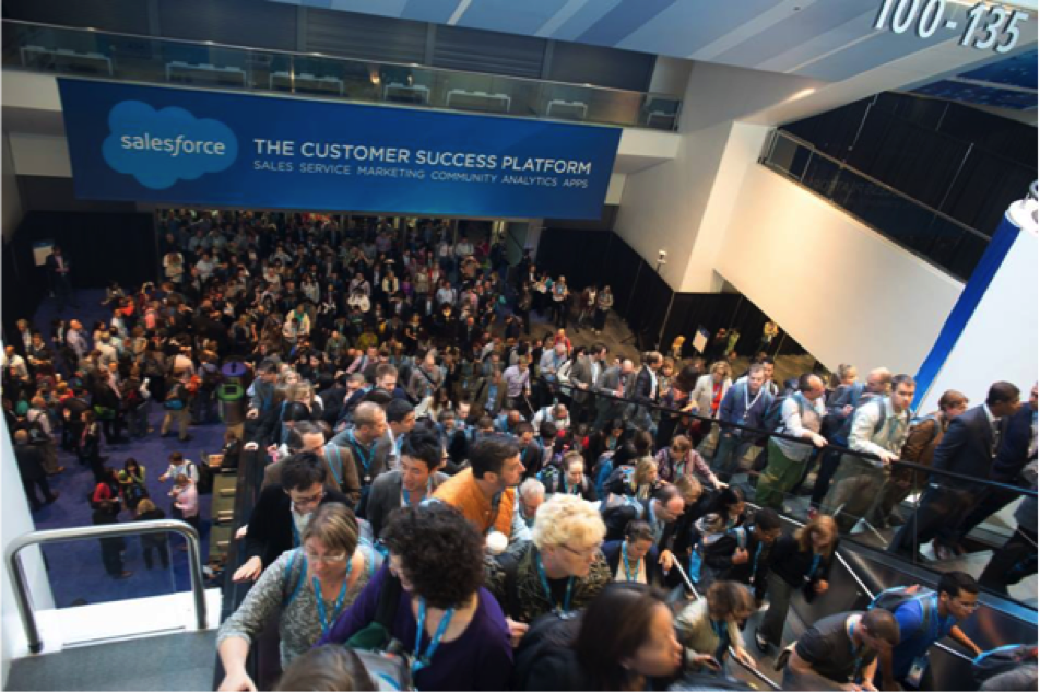 A huge crowd at Dreamforce