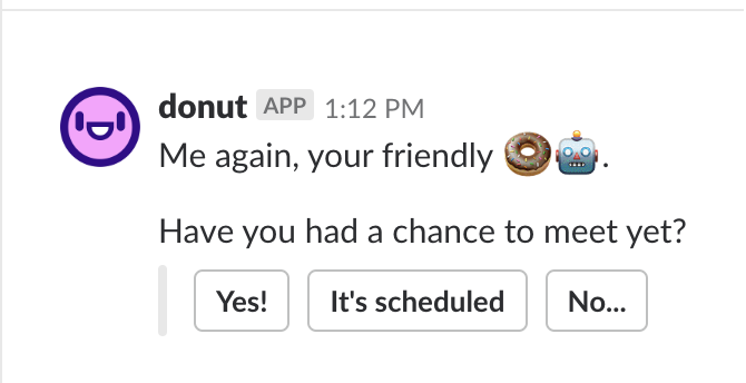 Donut asks the participants if they've met.