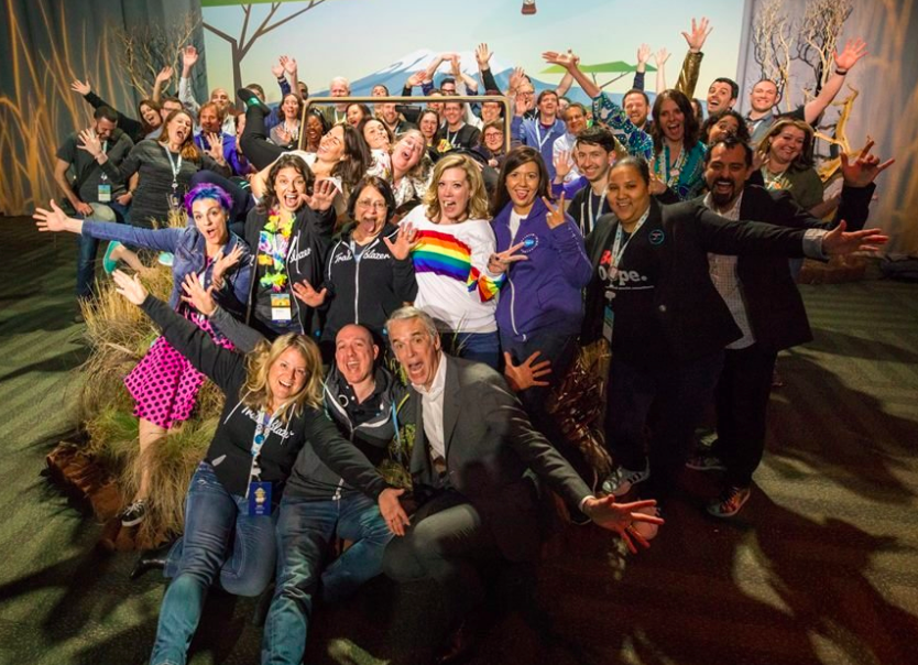 Photograph of our Salesforce MVPs some of our top social influencers for Salesforce