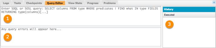 Query Editor tab with three window panes.