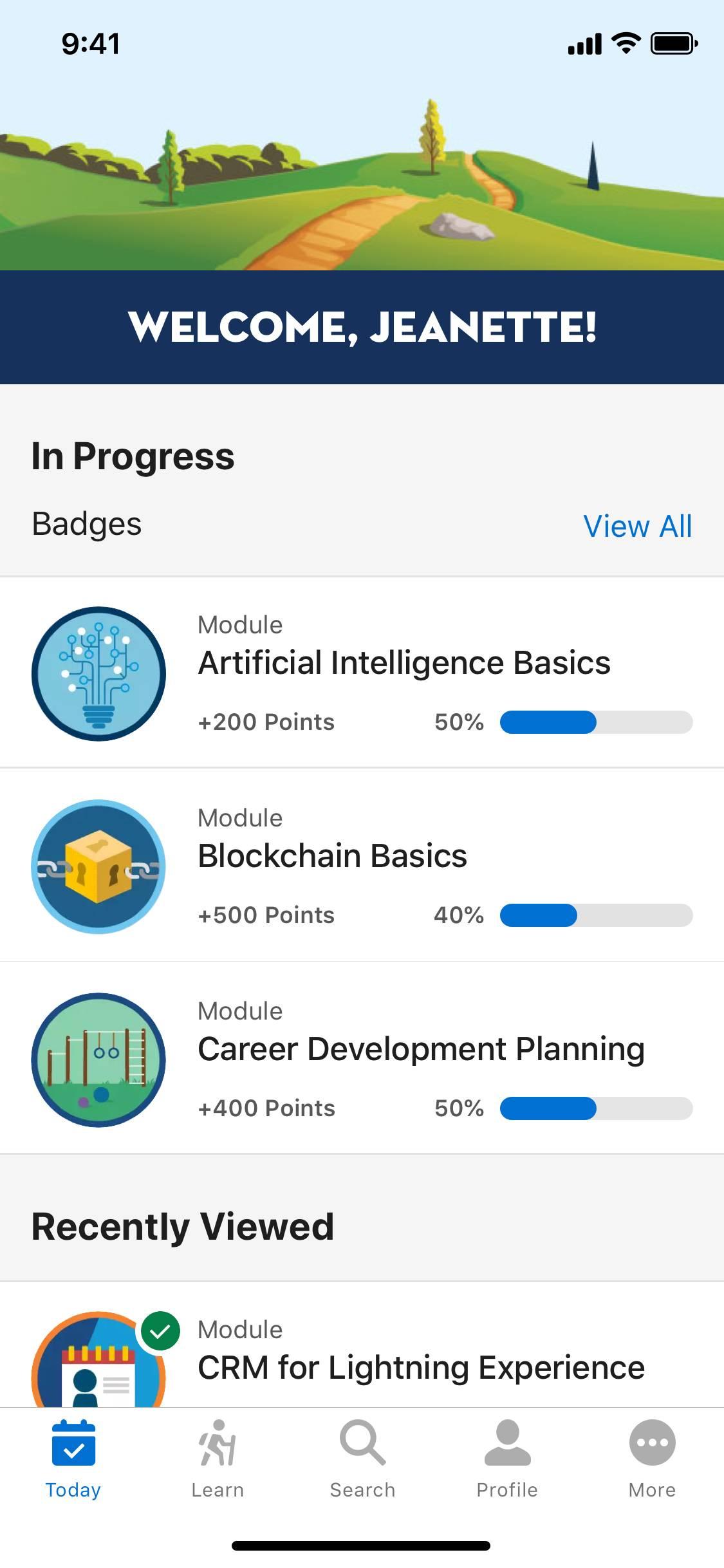 Trailhead iOS app UI]
