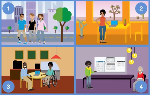 Estas cuatro compañías aparecen a través de Trailhead para ayudarle a aprender sobre nuestros servicios.